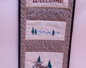 Moose Welcome Wallhanging, Northwoods Moose Decor, Gift Under 25