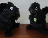 Black Squirrel Toy, Stuffed Black Squirrel Toy, Black Plush Toy, Plush Squirrel Toy. Stuffed Animal Doll, Easter Present, Cool Toy for Tots.