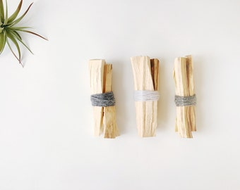 Wood Incense Smudge Bundle | Purifying Palo Santo | Housewarming Gift | Holy Wood
