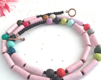 CONGRATULATIONS necklace minimalistic pastel chic