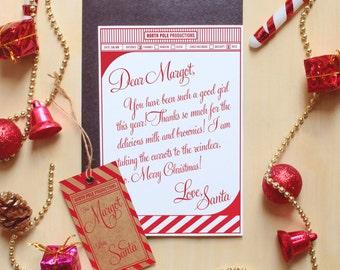 SANTA STATIONERY - Note paper and tags from Santa - North Pole - Instant Download