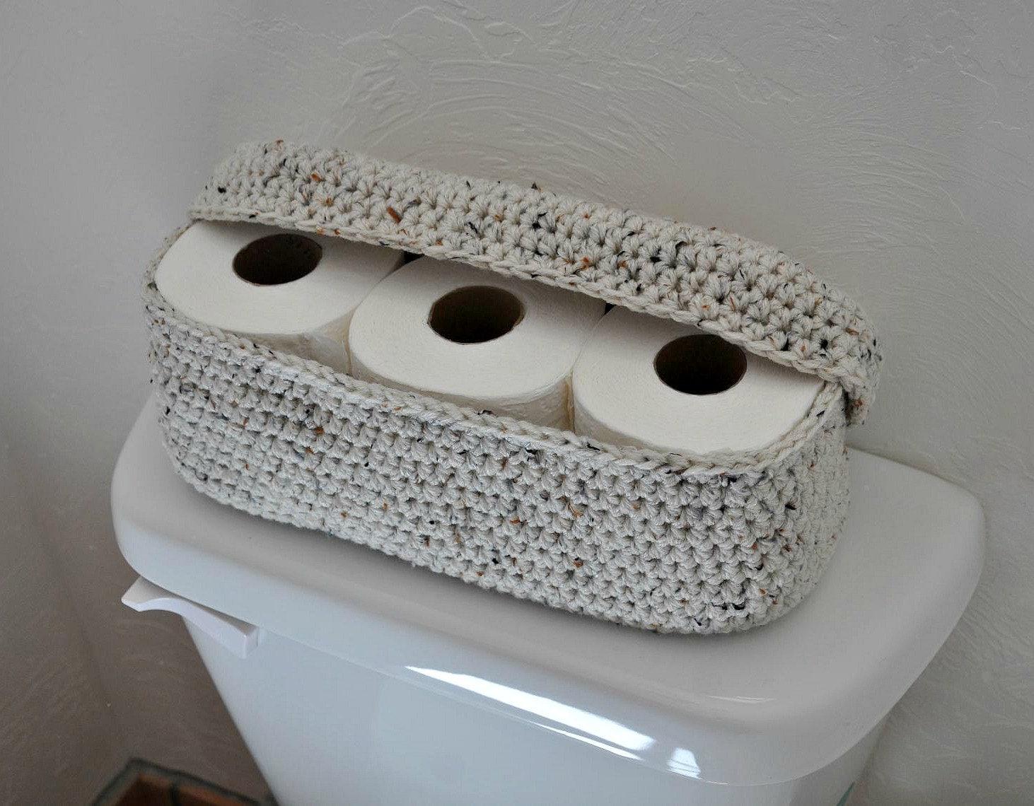 spare roll holder toilet tissue basket bathroom decoration. Black Bedroom Furniture Sets. Home Design Ideas