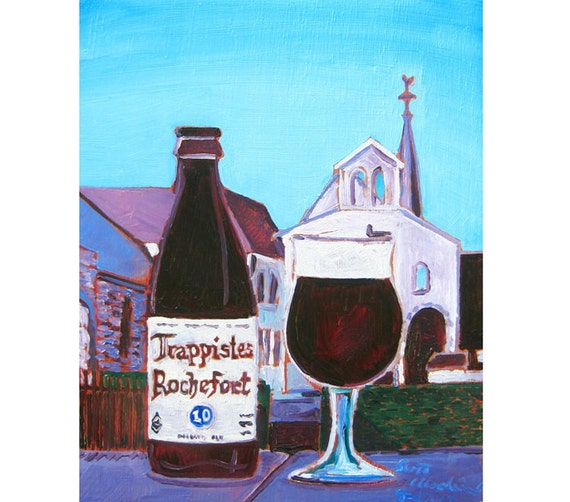 Trappistes Rochefort 10 Belgian Ale Beer Art by ...