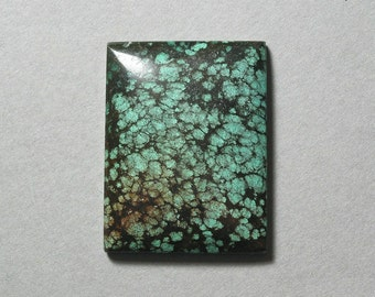 TURQUOISE rectangle cabochon 30X40mm blue green designer cab