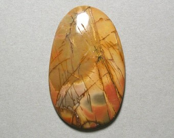 RED CREEK JASPER cabochon freeform 35X56mm designer cab
