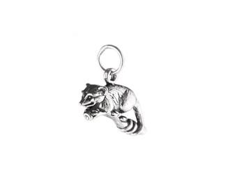 Possum Sterling Silver Charm