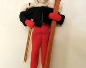 Adorable Collectible Vintage Ski Doll - Ski Decor - Ski Collectible - Ski - Cloth Doll - Ski Memorabilia - Collectible Doll
