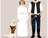 Custom Family Portrait Star Wars theme