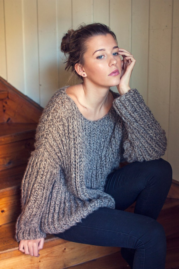 Knitted Jersey Patterns : KNITTING PATTERN English Ribbed Knit Fall Sweater One