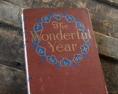 1916 WONDERFUL YEAR Vintage Lined Notebook Journal
