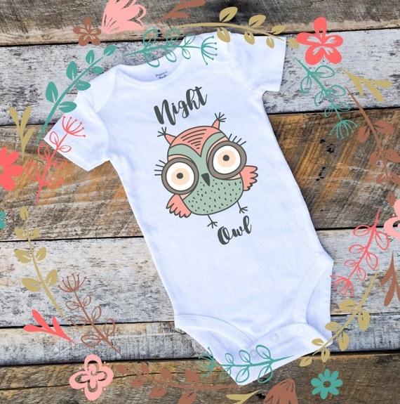 Baby Girl Onesies®, Night Owl Onesie, Woodland Onesie, Woodland Clothing, Owl Bodysuit, Owl Baby, Baby Girl Clothing, Onesies for Girls, Owl