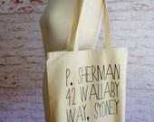 P. Sherman, Finding Nemo tote, disney pixar tote bag, Finding nemo, P. Sherman, finding dory, dory