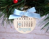 baby's first christmas ornament, Baby ornament, personalized christmas ornament, Birth date, typewriter, Baby shower gift