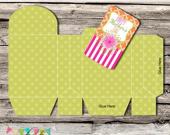 Mother's Day Fold Over Bag and Gift Card - DIY - Digital File - Printable - Customised - INSTANT DOWNLOAD