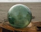 "Japanese Glass Fishing Float - 4"" diameter, Shade of Green"