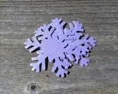 3, 10, 20, 50 Large Light Purple Glitter Snowflake Cut Outs - Cardstock Die Cut Party Decorations Frozen Snowflakes Princess Elsa 2.25 inch