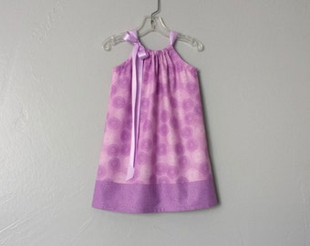 New! Little Girls Purple Dress - Purple and White Asters on Lavender - Little Girls Clothing - Size 12m, 18m, 2T, 3T, 4T, 5, 6, 8  or 10