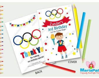6 Olympic Games Coloring Books, Olympics Birthday Party Coloring books, Sport Coloring Books Party Favors  A1287
