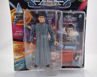 Vintage on Card Star Trek Next Generation Data as a Romulanby Playmats 90s action figure toy doll
