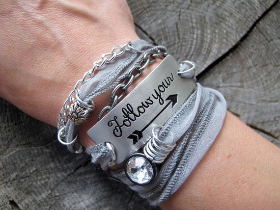 Inspirational Jewelry Inspirational Wrap Bracelet Quote