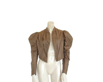 Victorian Jacket • True 1800s Authentic Antique Top • Steampunk • XS S