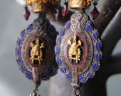 French Industry Medal And Crown EARRINGS