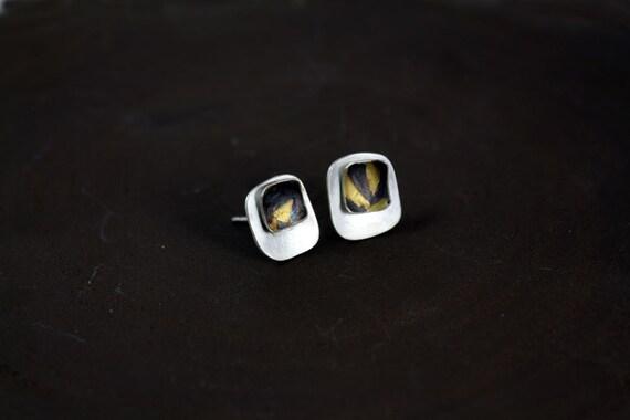 Small stud earrings Keum boo earrings Silver studs Gold stud earrings Modern earrings Bridal earrings