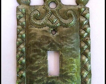 Metal Switchplate Cover - Switchplates, Light Switch Cover, Wall Plate, Light Switch Plate Cover, Haitian Recycled Steel Drum Art - HS-114-1