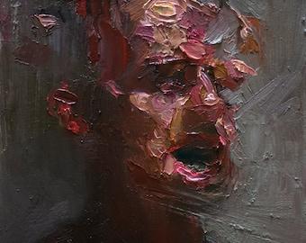 Bits of Face, Original Oil Painting