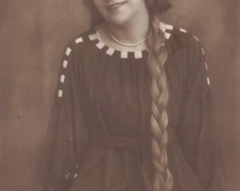 Lotte Neumann's Raphunzel Hair, Schoolgirl Look, circa 1920
