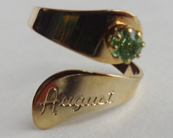 "August ""Peridot"" Birthstone Ring"