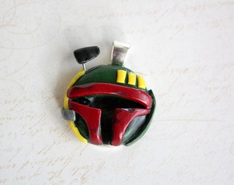 Boba Fett inspired Cameo Necklace