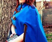 The Warden - Blue and Silver Military style cape