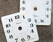 Vintage Alarm Clock Faces -- cardboard -- D2