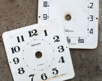 Vintage Alarm Clock Faces -- cardboard -- D2