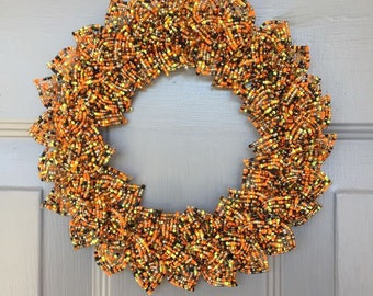 Halloween Blend French Beaded Decorative Wreath (X-Small)