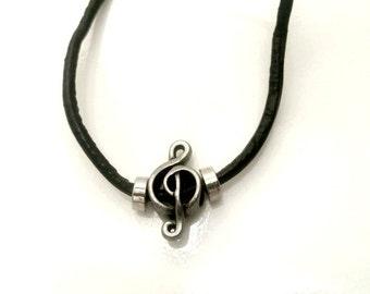 Treble Clef Necklace Music Jewelry Musician Gift Men Women Teen Sale Jewelry