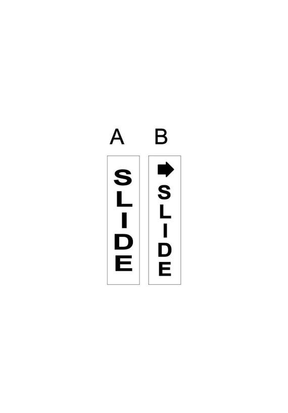 Slide sign / slide door / glass door / push pull decal / door push / vinyl sign
