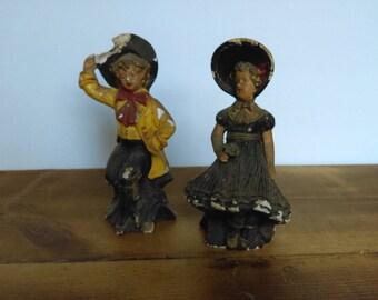 SALE Vintage Chalkware Figurines ABCO Alexander Backer Company
