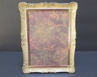 Vintage Ornate French Provincial Picture Frame with Easel Back Brass Filigree Frame 5  by 7