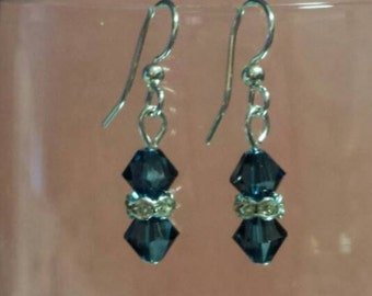 Double Bicone Earrings-Ready to Ship