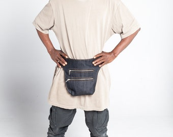 Denim Messenger Bag/Fanny Pack/Urban Waist Bag