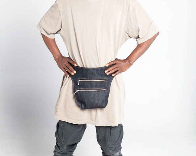 Denim Messenger Bag / Fanny Pack / Urban Waist Bag / Utility Belt