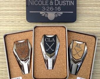 Personalized Groomsmen Gift - Golf Ball Marker/ Divot Tool in Custom Tin Box-Gifts for Groomsmen, Best Man Gift,Engraved Golf Marker,Wedding