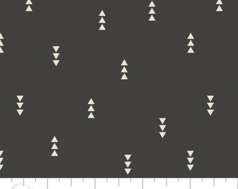 Crib Sheet - Triangles in Carbon - Fitted Crib Sheet