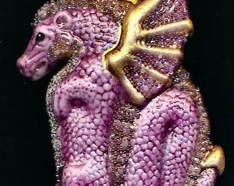 Porcelain Glitzy Raspberry Pendant