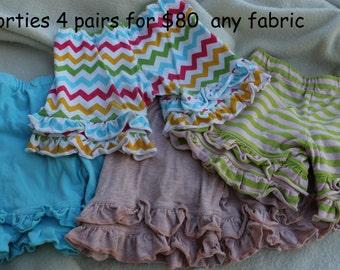 4 pairs of shorties for 80 any fabrics any sizes