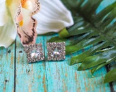 Retro Square Crystal Post Hypoallergenic Earrings ON SALE