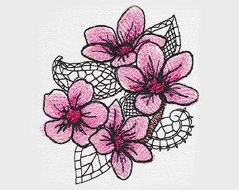 Cherry Blossoms Tea Towel | Kitchen Towel | Embroidered Tea Towel | Embroidered Towel | Embroidered Kitchen Towel | Hand Towel|Birthday Gift