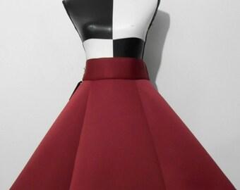 SALE: Neoprene Red Skirt